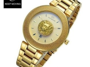 Keep Moving New Keep Moving Victorious Lion Wrist Watch-full Gold