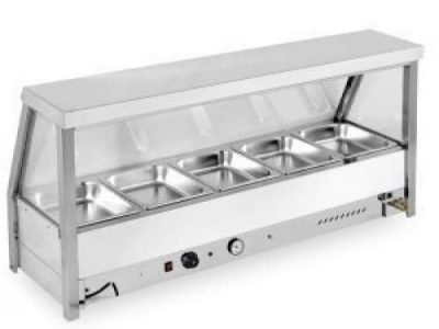 5-Pan Bain Marie Showcase