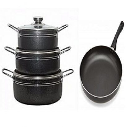Master Chef 3 Sets Non Stick Cooking Pot With Fry Pan