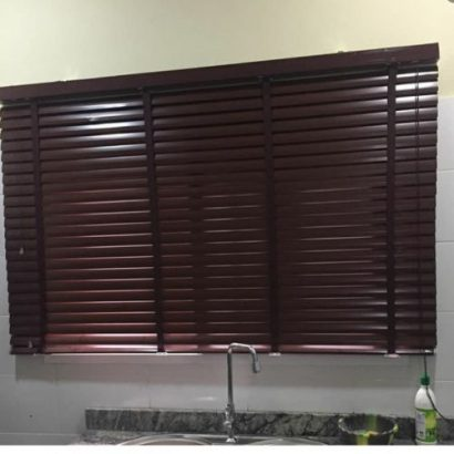 WOODEN HIGH QUALITY Wooden Window Blinds – BROWN EFFECT