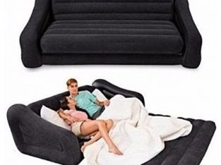 Intex 2 In 1 Inflatable Leather Pull Out Sofa And Bed Mattress