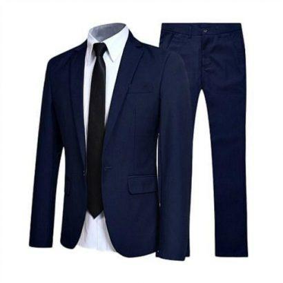 Executive Men's Suit – Navy Blue