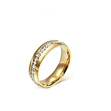 18 Carat Yellow Gold Plated Wedding Ring