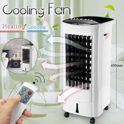 Air Fan 60W Air Cooler Conditioner Cooling Heating Multifunction Remote Control