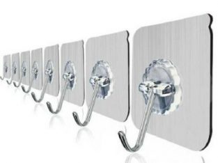 10PCS Strong Self-adhesive Hook, Wall Door Sticky Hanger