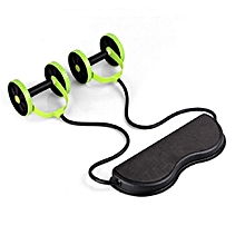 Revoflex Xtreme Abdominal And Core Trainer Exercise Wheels With Foot Straps Gym