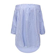 Zanzea Women Tops Tunic Off Shoulder Long Sleeve Pullover Blouse