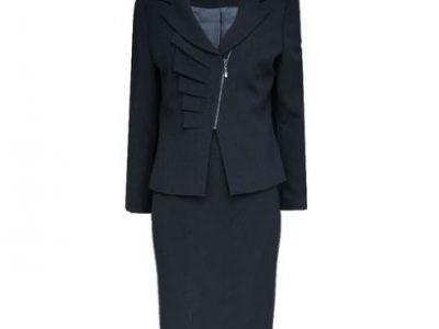Vitton Regal Navy Blue Two Piece Ladies Skirt Suit