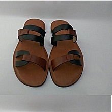 Men's Leather Pam Slippers