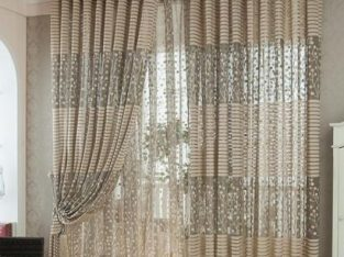 2Pair Floral Tulle Door Window Curtain Designs