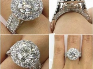 Luxury Micro Diamond Lady Ring Platinum-plated H