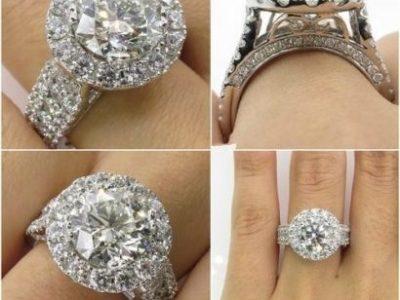 Luxury Micro Diamond Lady Ring Platinum-plated H