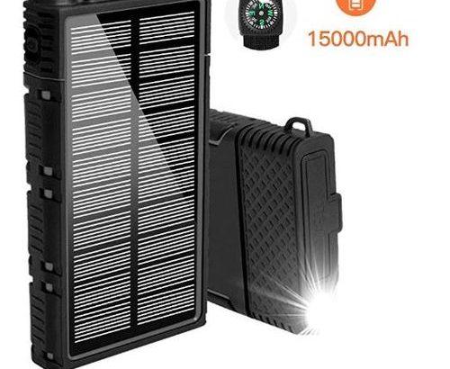 Anker Portable Solar Power Bank Solar Battery Charger Dual USB