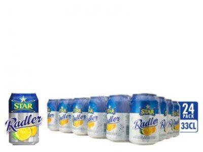 Star Radler Beer – 33cl Can X 24