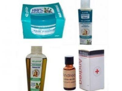 El Glittas Hair Wonder Oil + Cream + Shampoo Plus Andrea Oil Combo – 4 In 1