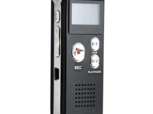 LINCOLN DIGITAL Rechargeable 8G Audio Voice Recorder – Black