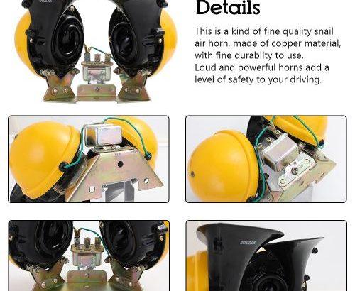 120db Loud Car Horn 24V Optional Klaxon Parts For Truck Bus