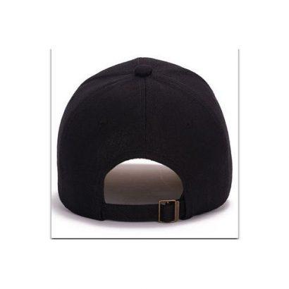 Senior Quality Baseball Facecap/Face Cap With Adjustment Strap.LOOK MORE SMART..Black