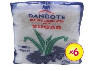 Dangote Refined Granulated White Sugar 250g – 6 Sachets