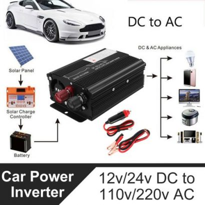 Solar Power Inverter 3000W LED 12v/24V DC To 110v/220V AC Sine Wave Converter