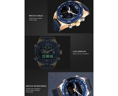 Naviforce Men Fashion Sports Watches Men's Waterproof Quartz Date Clock Man Leather Army
