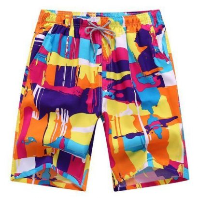 4-in-1 Men's Casual Quick Drying Shorts Printed Beach Pants