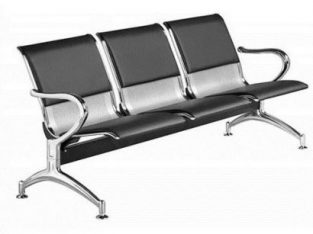 Excell 3 Seater Deluxe Leather Cushion Reception Chair