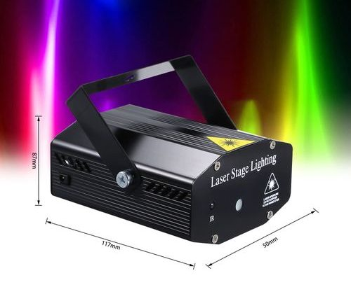 Mini DJ Disco Stage Strobe Projector Light Voice Activated