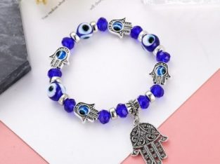 Blue Eyes Bracelet With 5 Hands Of Hamsa