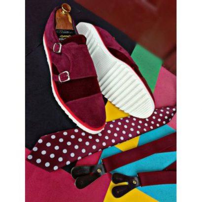 Bespoke Fashion Exotic Men's Double Buckle Shoe