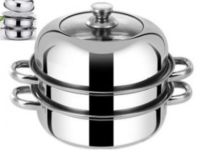 28CM Stainless Steel Steamer Pot Stew Pot 3 Laye