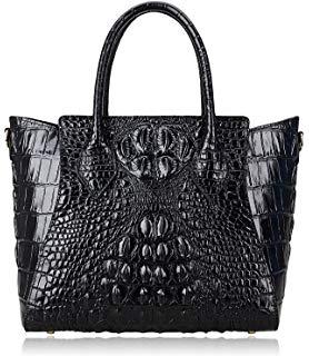 Women Crocodile Genuine Leather Handbags Shoulder Tote Handle Bags