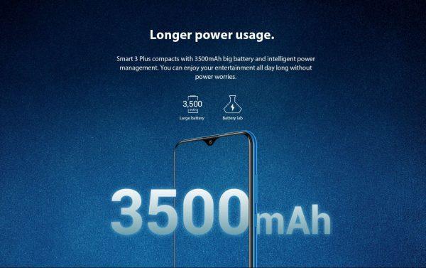 Infinix SMART 3 PLUS(X627B)-6.2″ HD+ -32GB ROM + 3GB RAM -13MP/2M/QVGA + 8MP -4G LTE-3500MAH