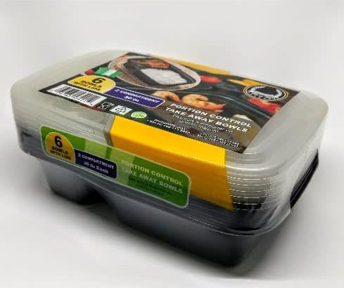 2 Compartment Plastic Plates With Cover