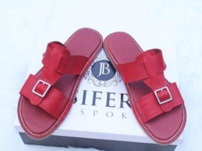 Jesiferk Bespoke Men's Leather Slippers – Red