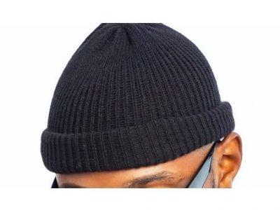 Unisex Wool Beanie Black Head Warmer