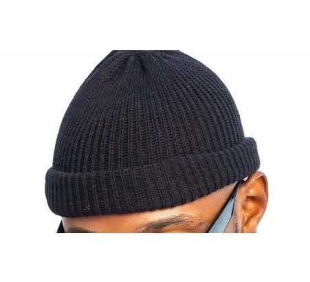 Unisex Wool Beanie Black Head Warmer