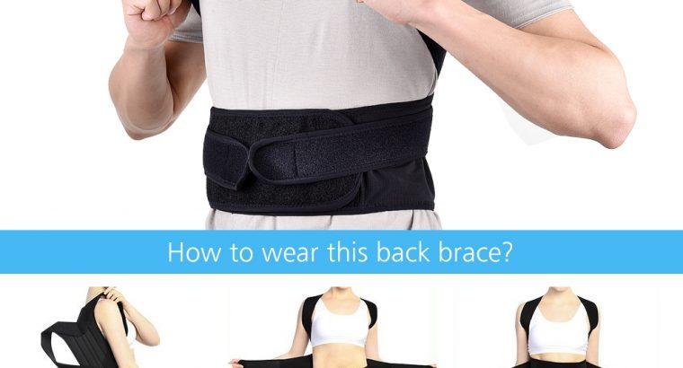 ABS Back Posture Corrector Shoulder Lumbar Brace