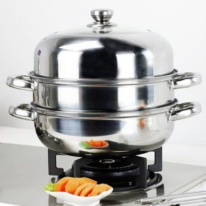 Stainless Steel Steamer Pot Stew Pot 3 Layers