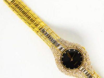 Ice Stoned Chain Ladies Wristwatch
