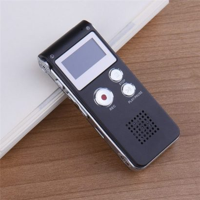 LINCOLN DIGITAL Multifunctional Rechargeable 8GB 650HR Digital Audio Voice Recorder Dictaphone