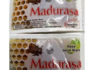 Madurasa 12pcs X 25gr Honey Individual Portions Sachets. Lime Flavorr