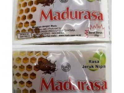 Madurasa 12pcs X 25gr Honey Individual Portions Sachets. Lime Flavorr
