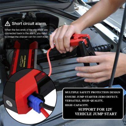 Generic 12V High Power Car Jump Starter Power Bank Charger Battery Emergency LED Light