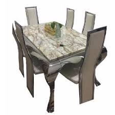 Oxlyn 6 Seater Reinz Marble Dining Set
