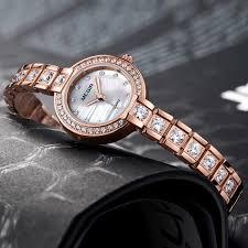 MEGIR Women Bracelet Watches Top Brand Luxury Rose Brass Lover Ladies Watch