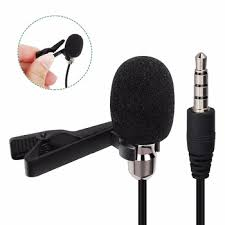 Lapel Microphone Lavalier Condenser Microphone Clip On Mic Interview Audio Recording Microphon