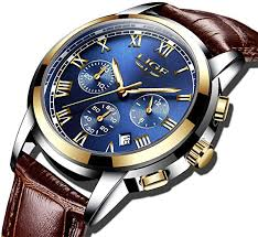 Lige Men Sports Waterproof Date Analogue Quartz Men's Watches Chronograph Business Watches For