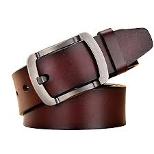 Leather Belt With Studs – Brown