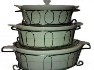 Oval Serving Dish Set – White